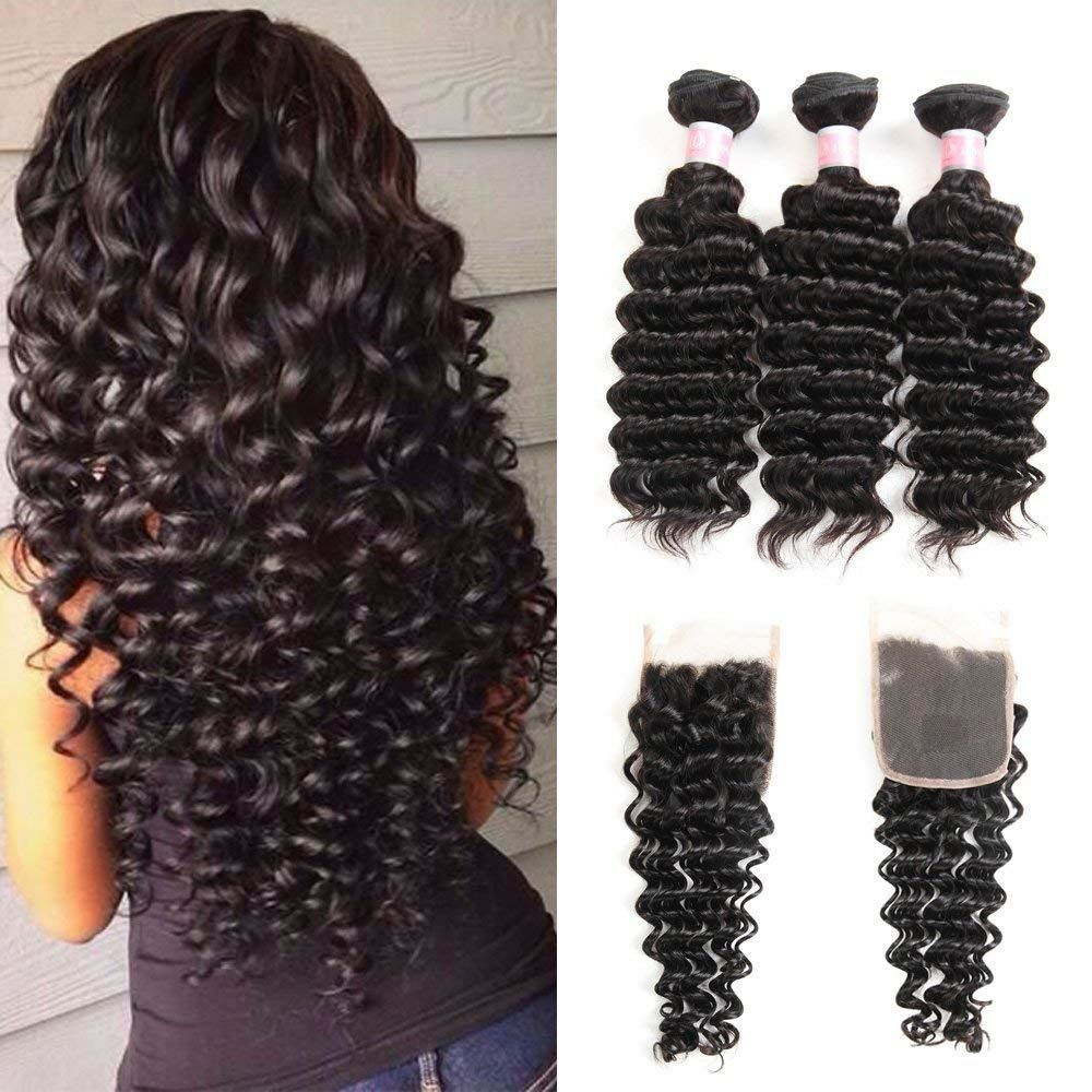 eBay Sponsored Brazilian Deep Wave Human Hair With Free
