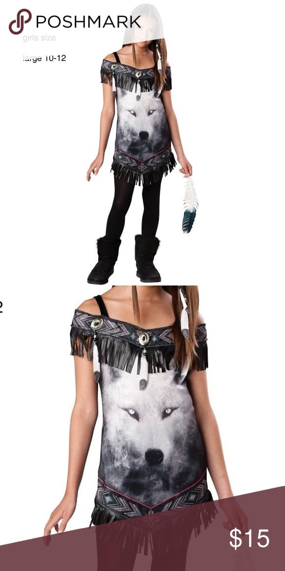 Size 12 Girls Halloween Costumes.Indian Girl Halloween Costume Kids L 10 12 Tribal Spirit Costume Girls Size L American Girl Costume Halloween Costumes For Girls Halloween Kids Costumes Girls