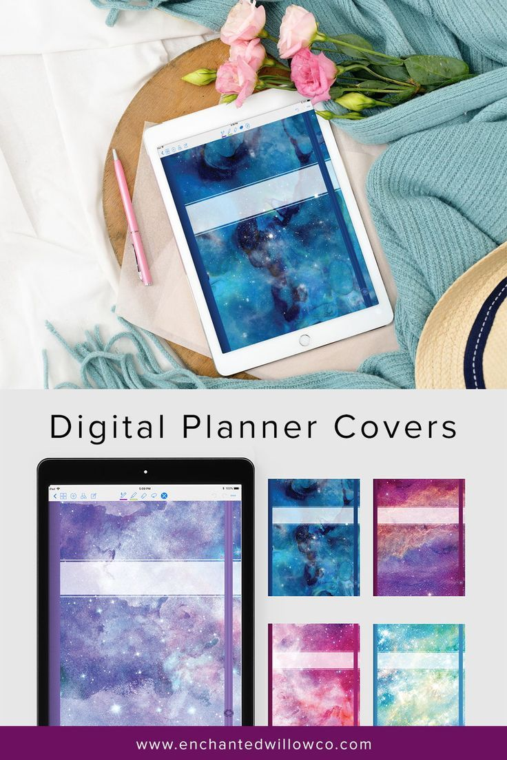 5 GoodNotes Planner Covers, Digital Notebook GoodNotes