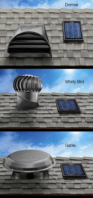 solar powered attic ventilation