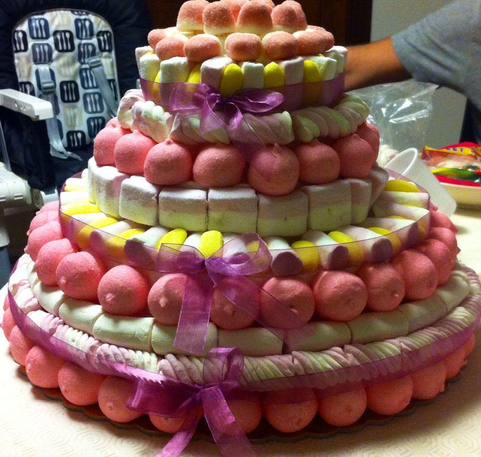 Torta Di Caramelle Gommose Arreglos Con Golosinas