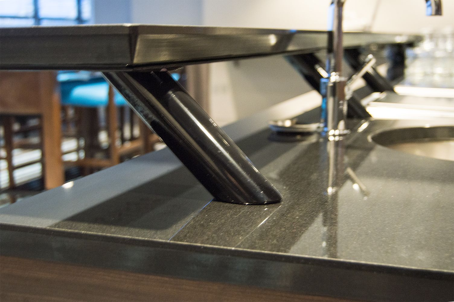 The Blakeney Countertop Post Support For Elevated Countertops Is