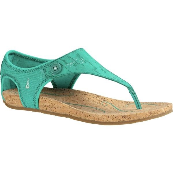 Ahnu Serena Cork Sandal ($85) ❤ liked on Polyvore featuring shoes, sandals, cork sandals, ahnu shoes, ahnu sandals, ahnu and ahnu footwear