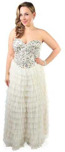deb shops skirt plus size strapless sequin stone