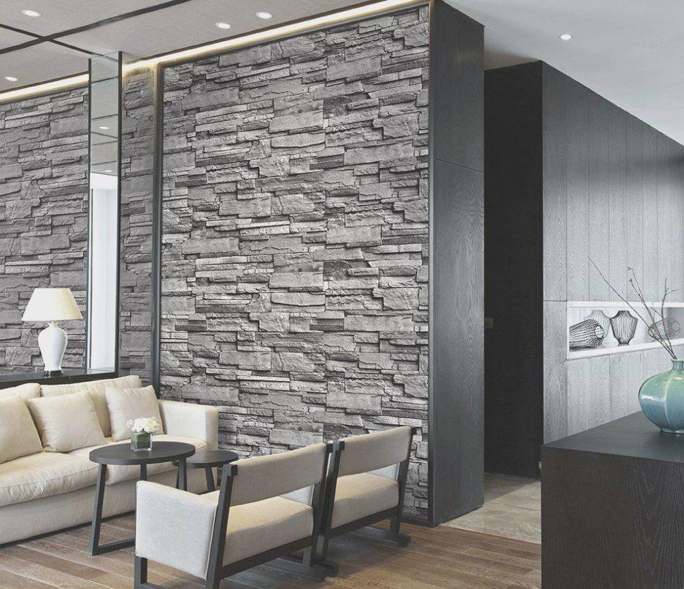 Grey Brick Wallpaper Living Room Ideas 1025theparty Disenos De