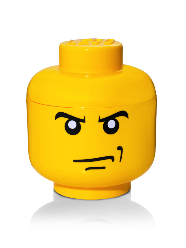 Angry Lego Face Storage Figli