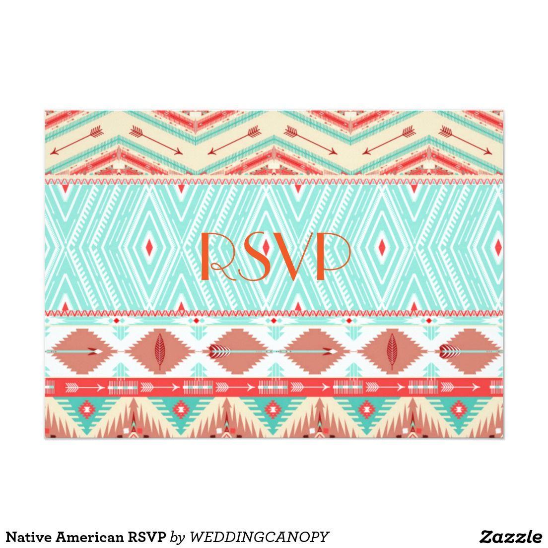 Native american rsvp invitation diy pinterest rsvp native
