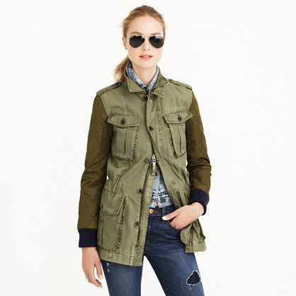 J. Crew Quilted Boyfriend Fatigue Jacket now at Swap BR size XXS ...