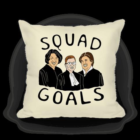Squad Goals Throw Pillow Lookhuman Squad Goals Funny Throw Pillows Pillows