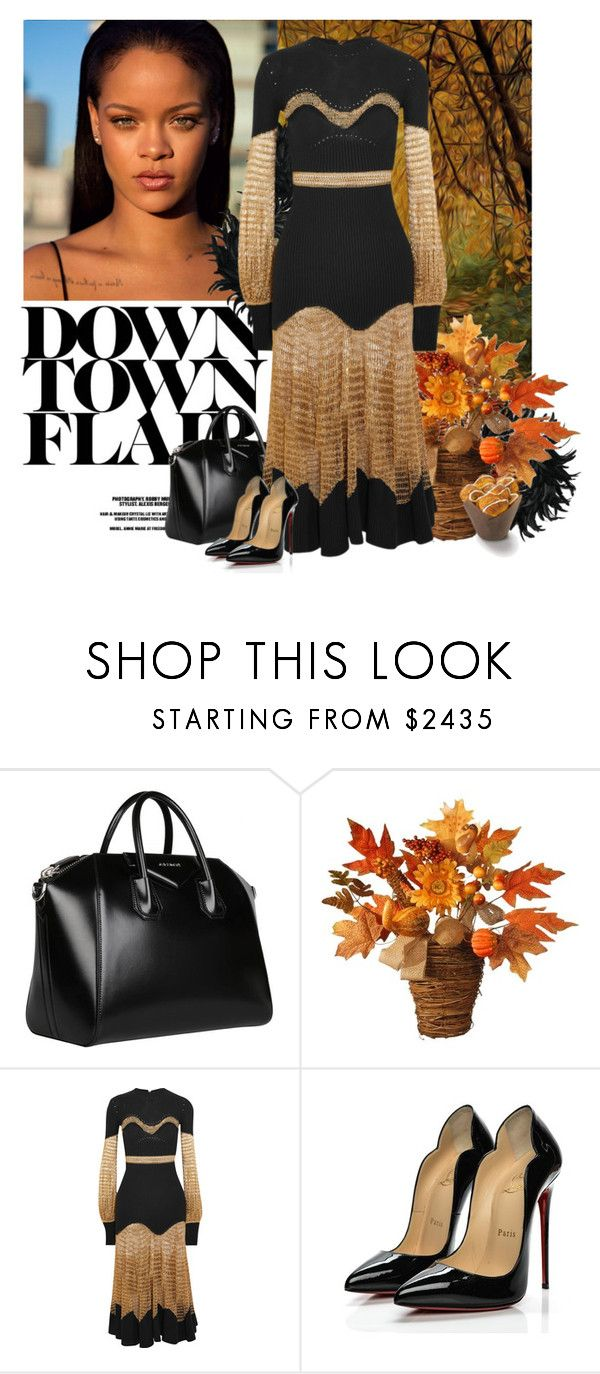 """""""Untitled #635"""" by po8grl ❤ liked on Polyvore featuring Givenchy, National Tree Company, Alexander McQueen, Christian Louboutin, Pumps, AlexanderMcQueen, christianlouboutin and knitdress"""
