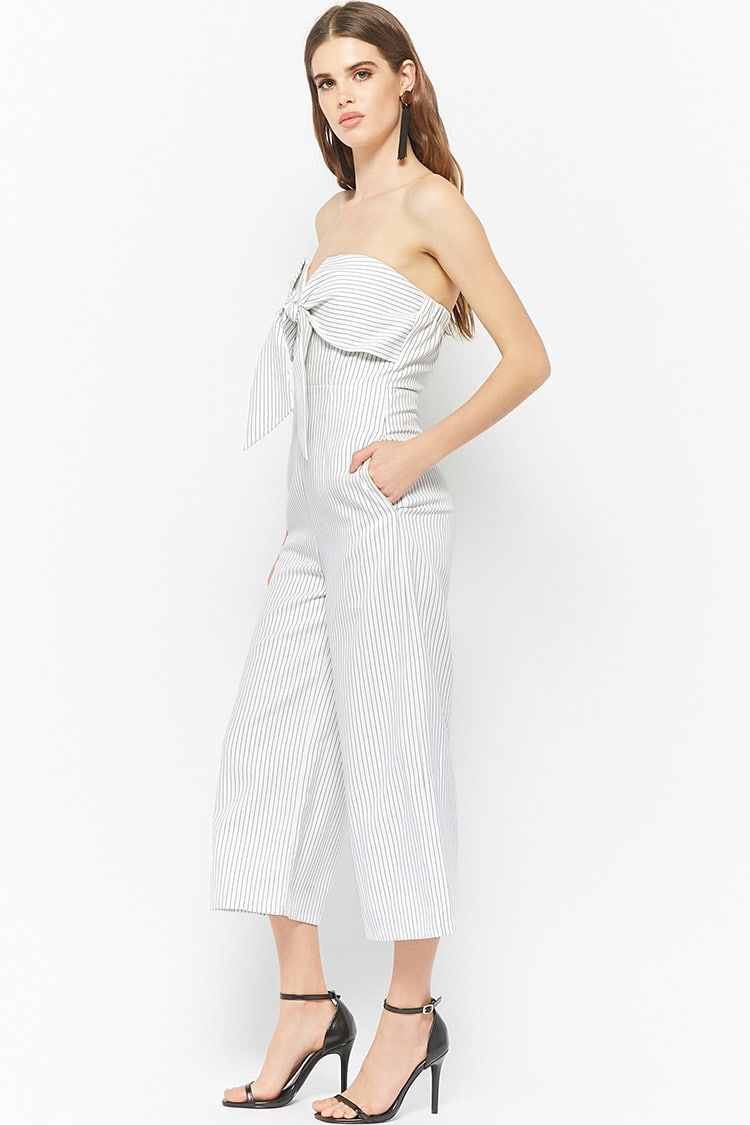 4e5ecd0b8df Product Name Pinstriped Strapless Jumpsuit
