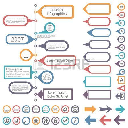 Coleta de elementos infogr Banco de Imagens