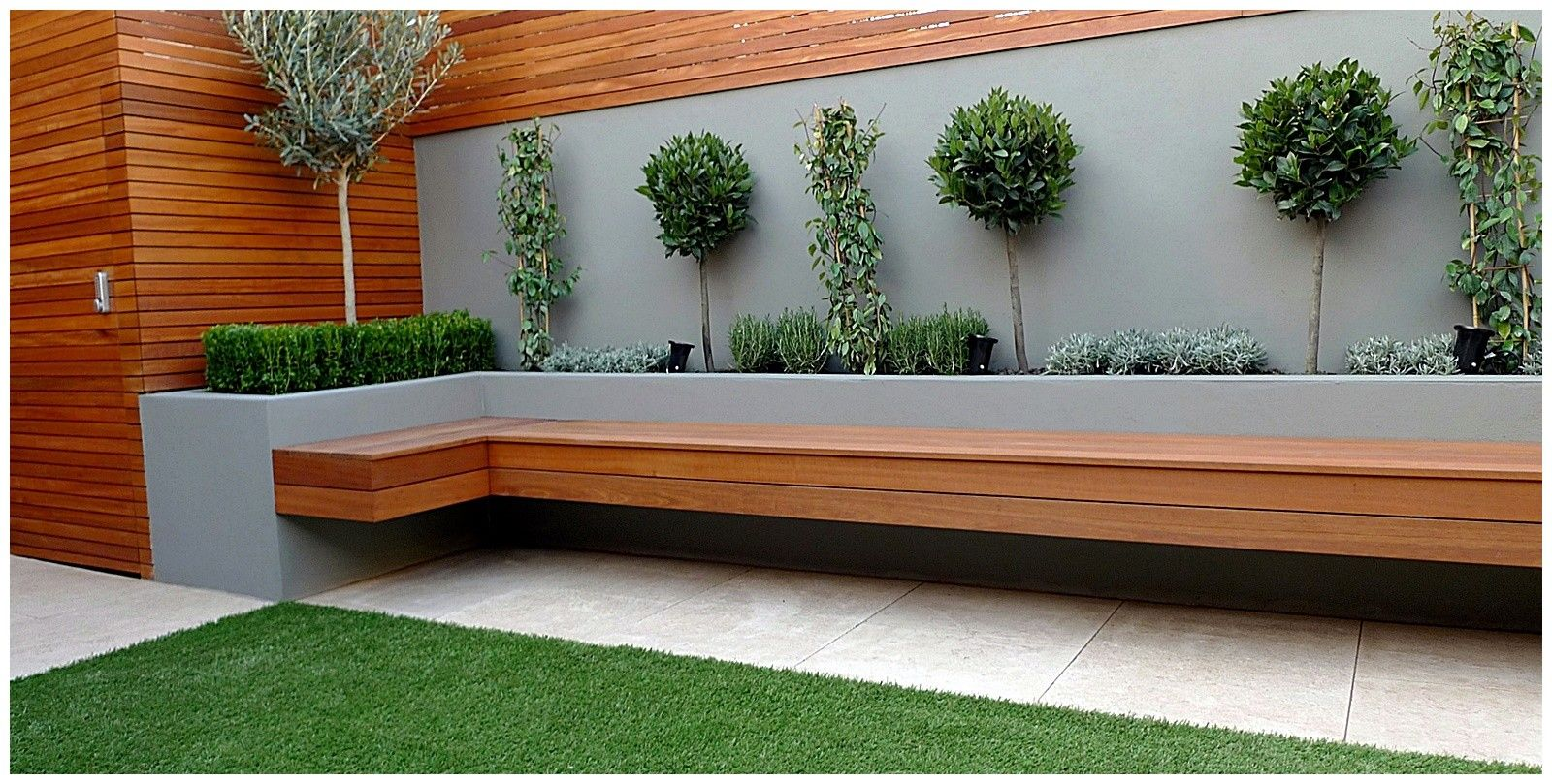 Image result for fake grass backyard with planter Cheap