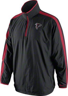 sports shoes 4883b 5bafe Atlanta Falcons Black Nike Sideline Woven Coaches Jacket ...