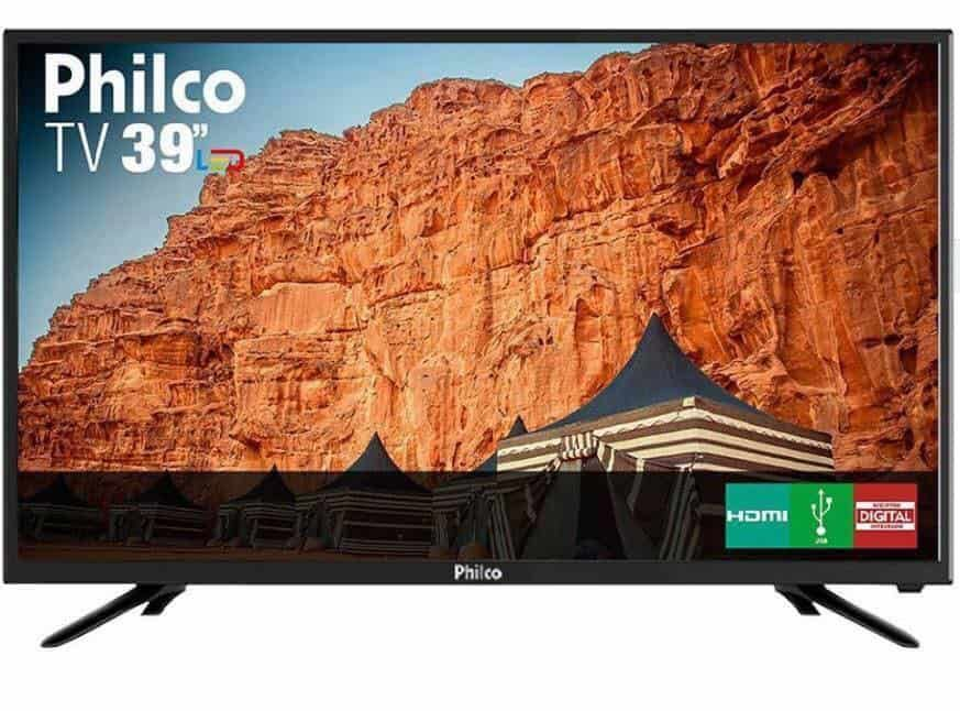 890a965ee TV LED 39″ Philco PTV39N91D HD com Conversor Digital 2 HDMI 2 USB Som  Surround