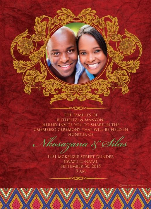 South african traditional wedding invitation card umembeso card south african traditional wedding invitation card umembeso card stopboris Choice Image