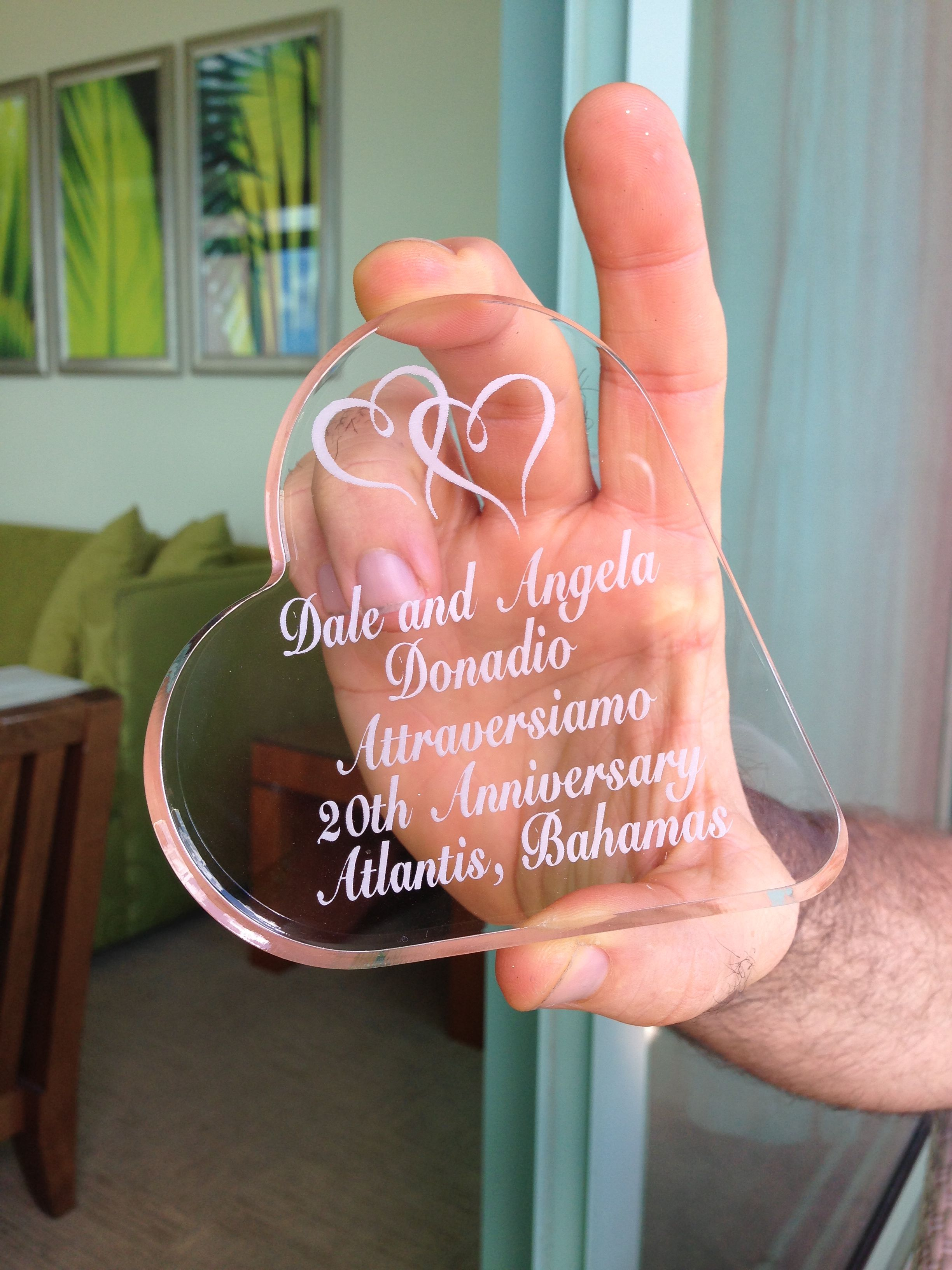 Gifts for our guests - I also gave one to Dale - With the date and ...