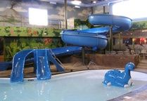 Dino Beach Waterpark is located at the Victoria Inn Hotel