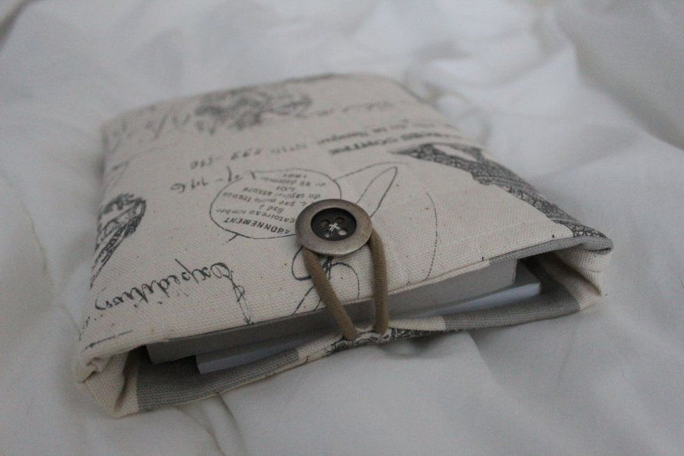Diy sewn book sleeve book sleeve sewing pattern book