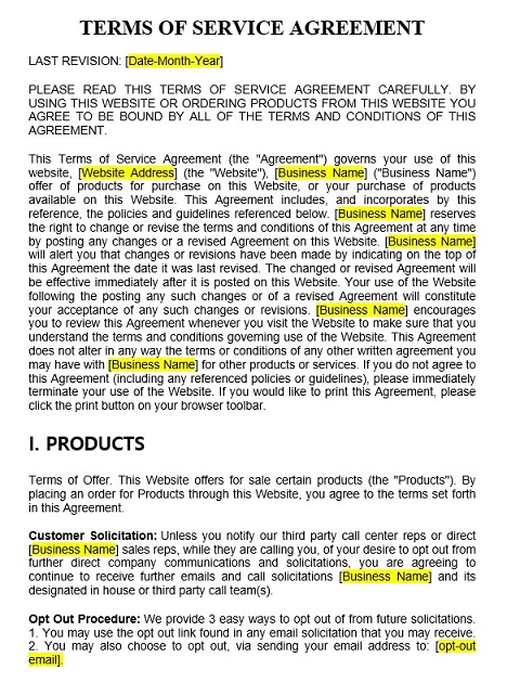 terms of service agreement in 2020 Terms, Terms of