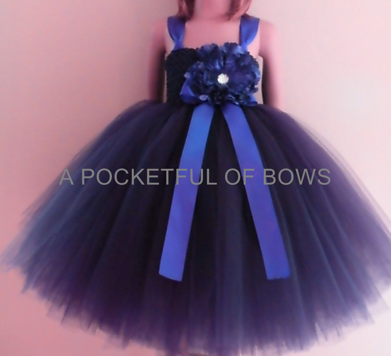 Navy Flower Girl Tutu Dress Toddler Formal by APocketfulofBows ...