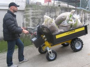 Battery Electric Wheelbarrow Alitrak Dt300l With Images Electric Truck Electric Wheelbarrow Movers