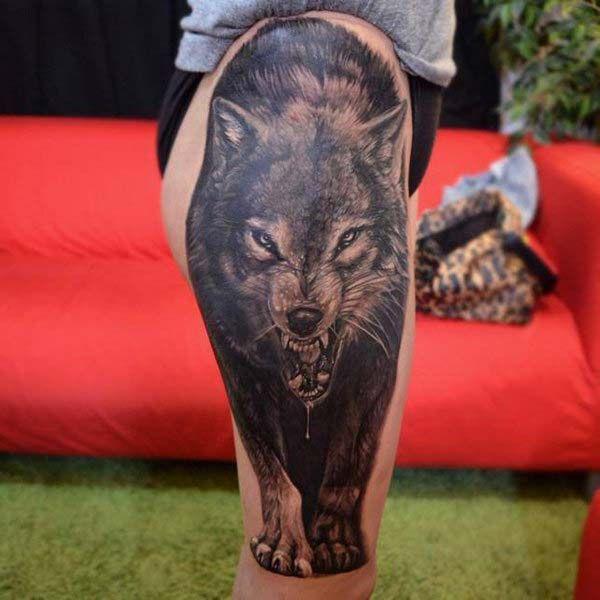 Lovely Lone Wolf Tattoos In Different Styles 2018: Kurt Dövmeleri / Wolf Tattoos