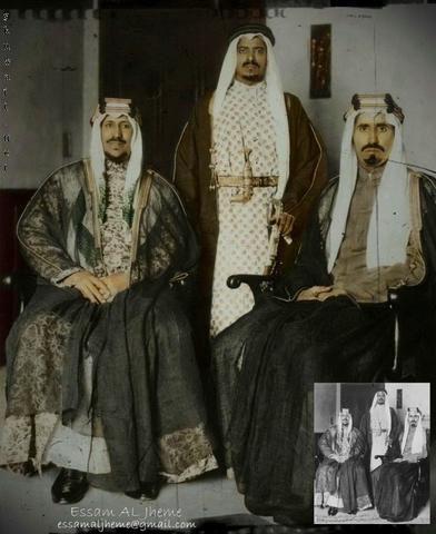 الملك سعود والامير محمد ابناء الملك عبد العزيز Arabian Beauty Middle Eastern Fashion King Faisal