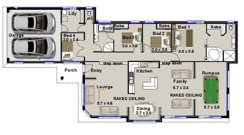 Beau 4 Bedroom House Plans   Google Search