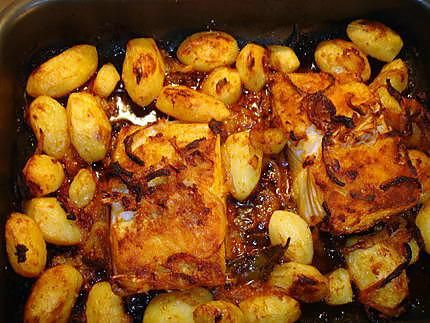 Morue au Four et ses Pommes de terre (bacalhau assado no forno com batatas assadas) | Recette en ...