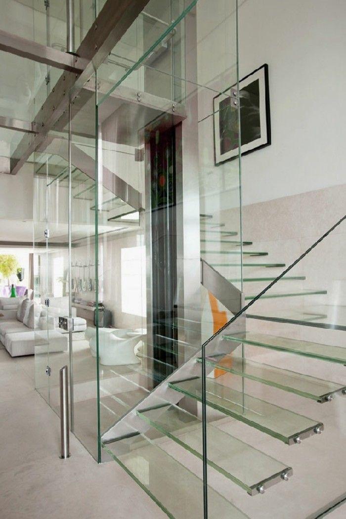 escalera y barandilla de cristal preciosa Cristaleria Pinterest