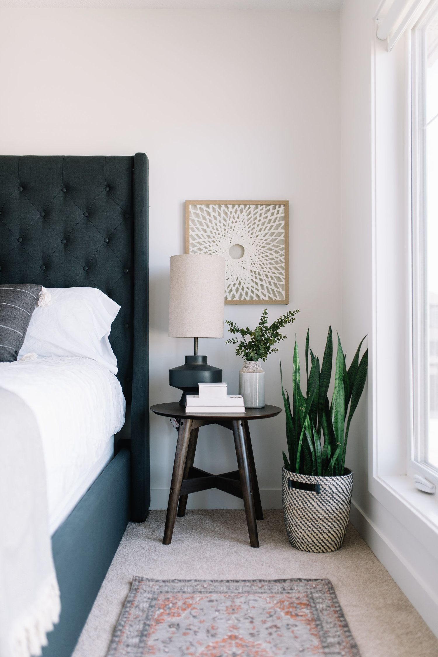 Moving Up! A Peek at our Bedroom Refresh Bedside table