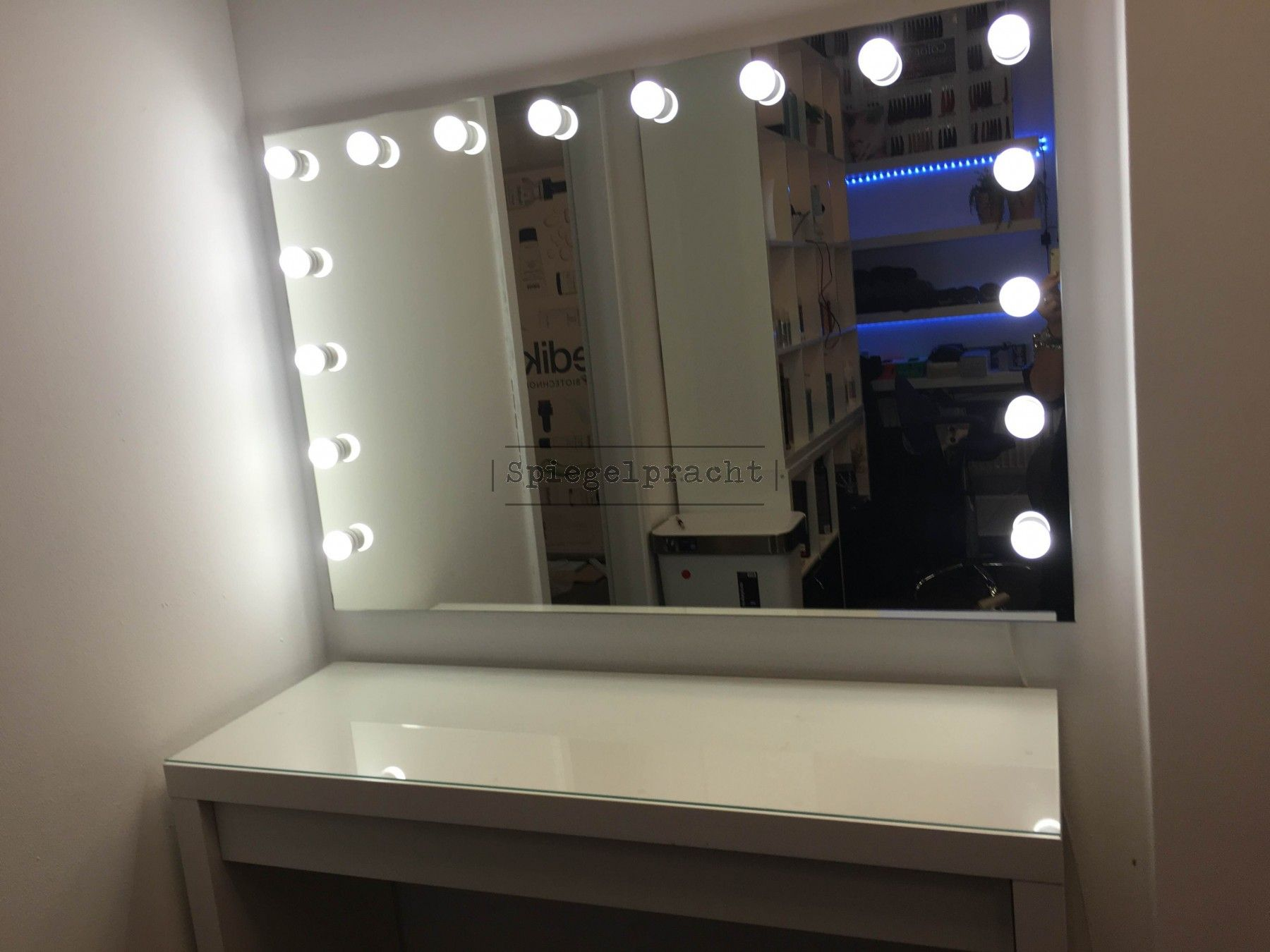 Make Up Theater Visagie Spiegel Hollywood H01