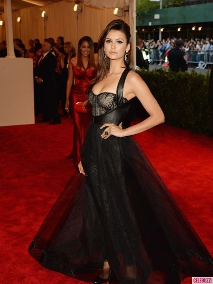 Nina Dobrev  attends the Costume Institute Gala for the PUNK: Chaos to Couture exhibition at the Metropolitan Museum of Art on May 6, 2013 in New York City.