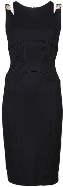 VERSACE Shoulder Dress - Lyst
