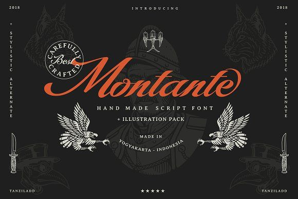 Montante Script (illustration pack) by Tanziladd on ...