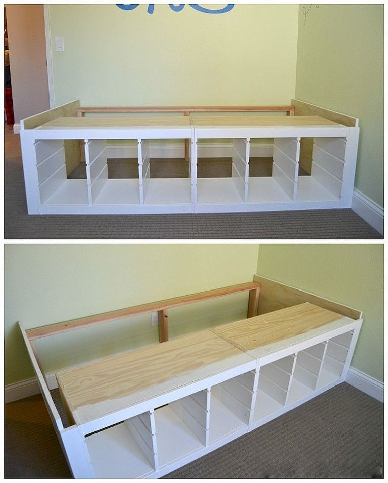 Storage Bed Ikea Hack Expedit Hack Under Bed Storage Ikea Bed