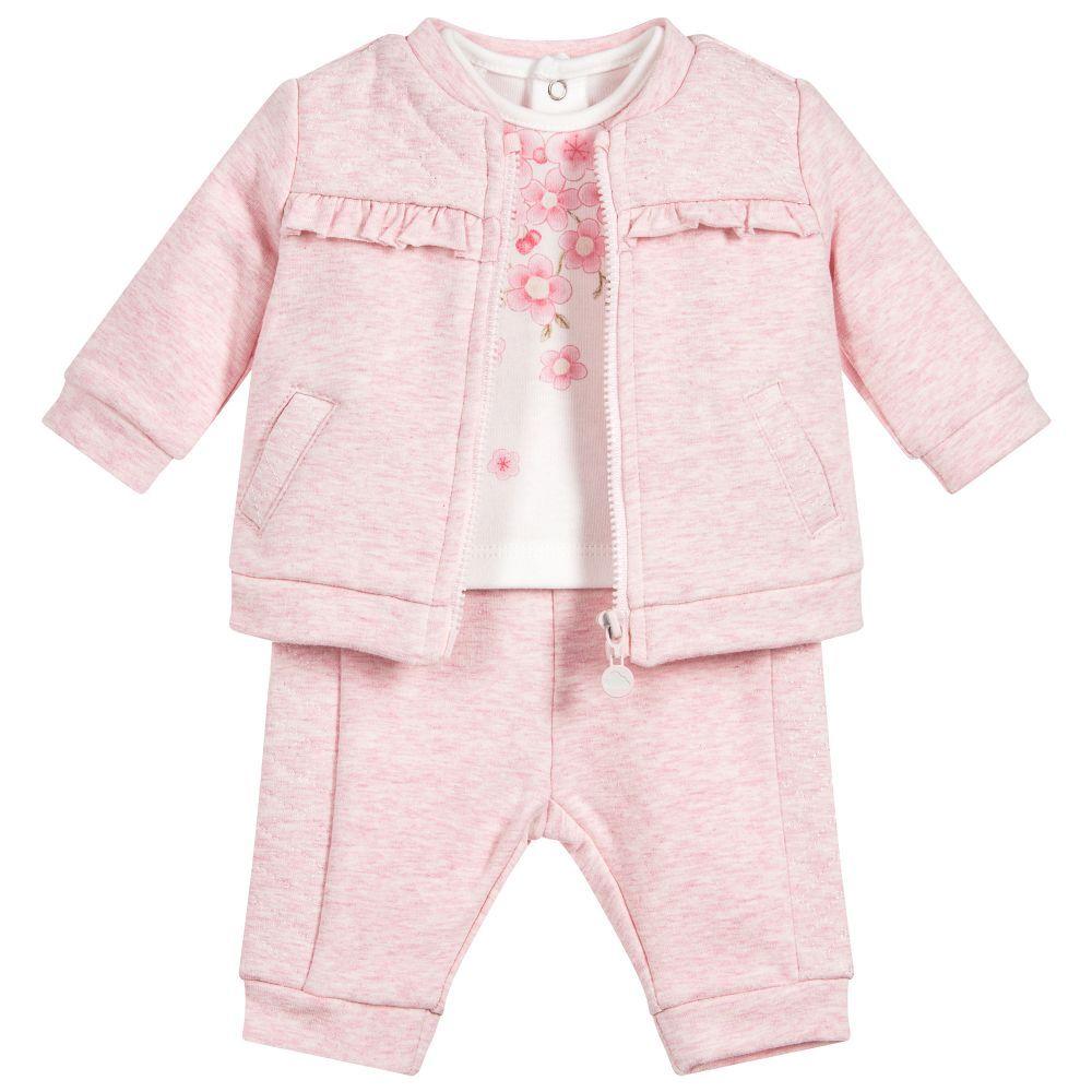 1c8aeac0c Baby Girls 3-Piece Trouser Set