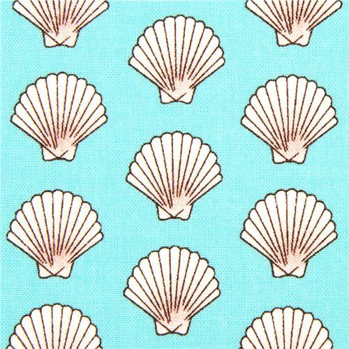 Turquoise Sailor Fabric With Shells By Michael Miller Prints Pattern Pattern Wallpaper