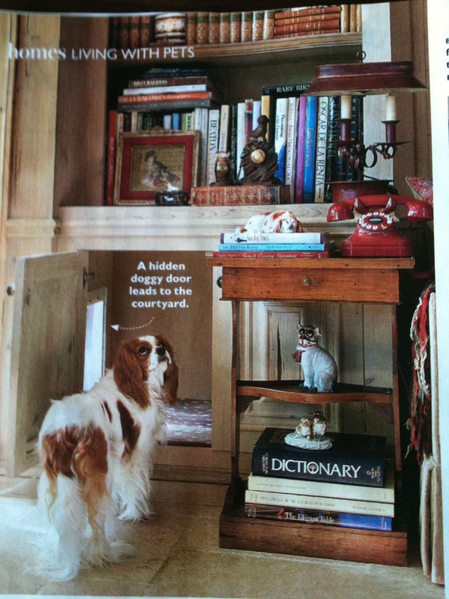 Great Hidden Dog Door Idea From Charles Faudree Love This Designer