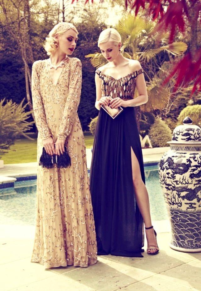 Gatsby style | Vintage Class | Pinterest | Vestidos de noche, Noche ...