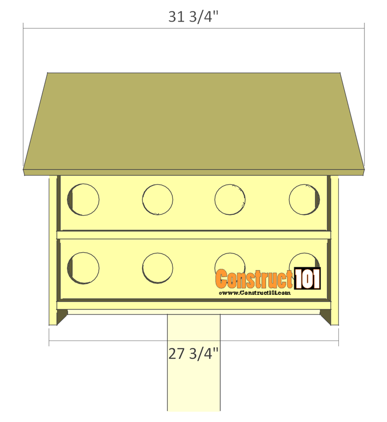 Purple Martin Bird House Plans - 16 Unit   my ag project ...