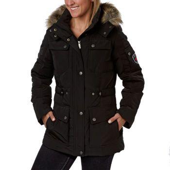 e27c97f50ca Costco  Utex Ladies  Down Jacket with Faux Fur Hood – Black