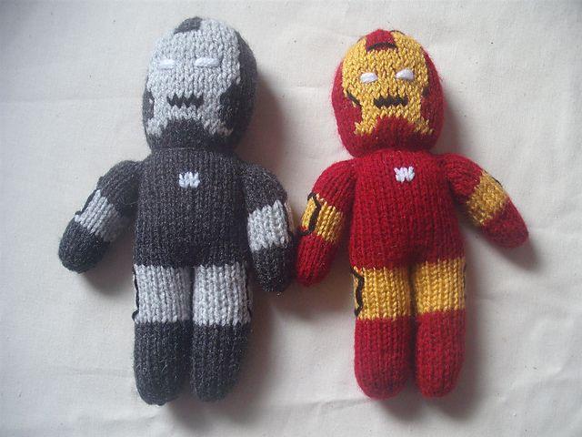 Knitted Iron Man/War Machine pattern by Irene McCormick ...
