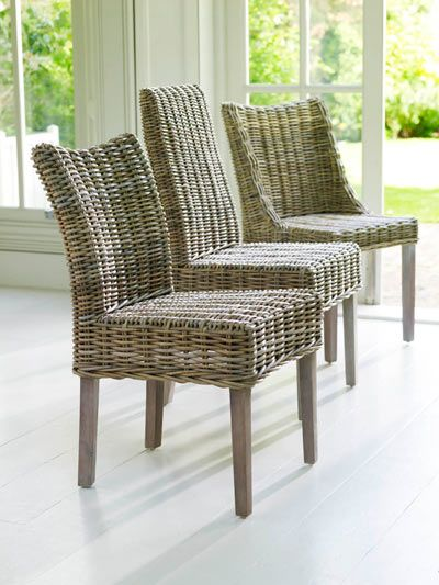 Heavy Duty Wicker Dining Chair Rattan Dining Chairs