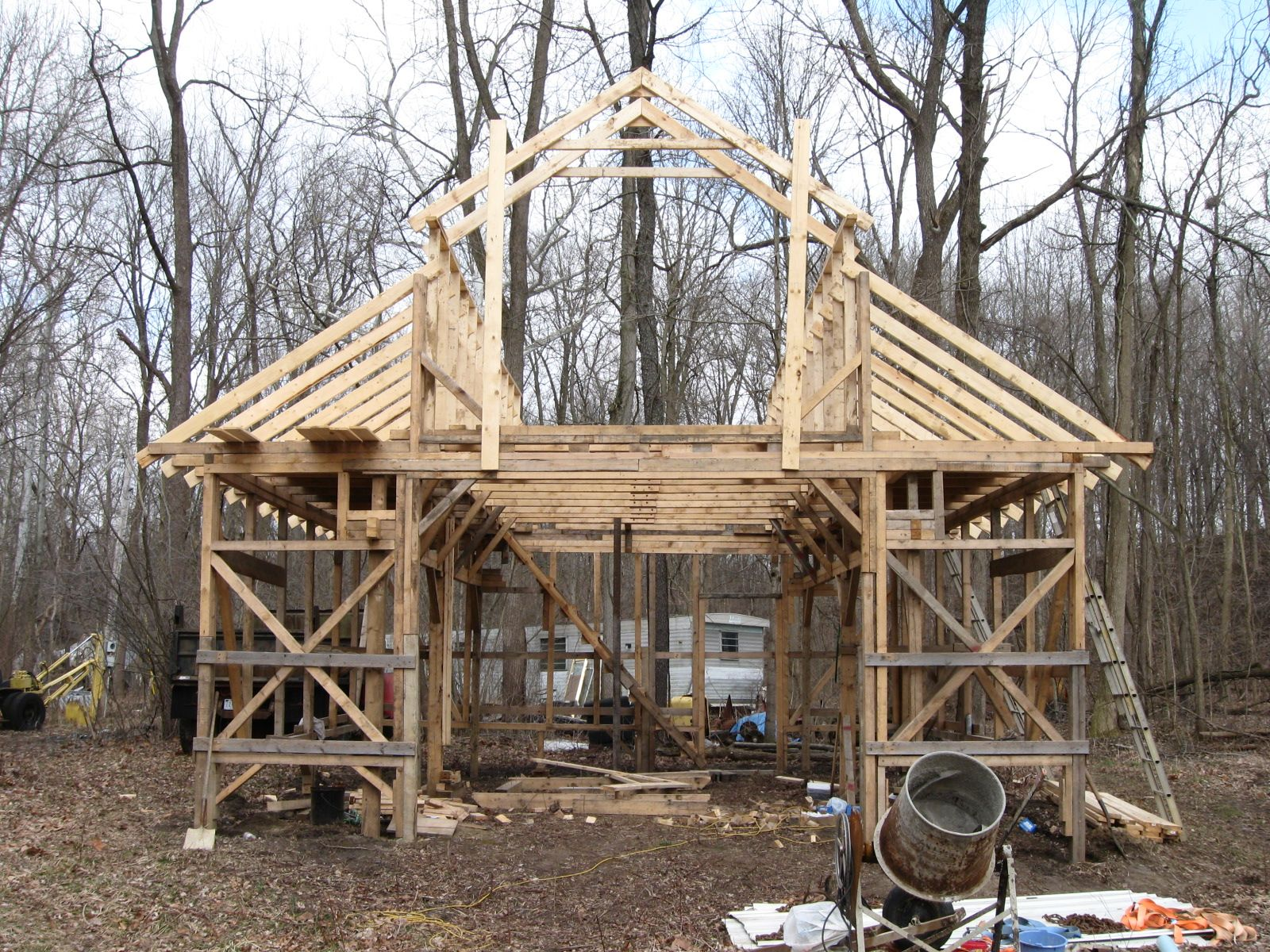 Barn truss with loft google search hobby farm for Where to buy trusses