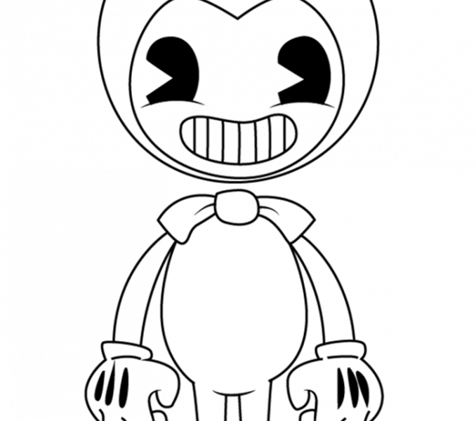 printable bendy coloring pages for kids  angel coloring
