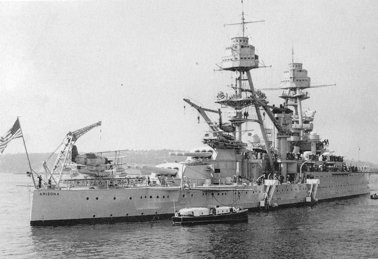 USS Arizona, probably late 1930s Uss arizona, Us navy