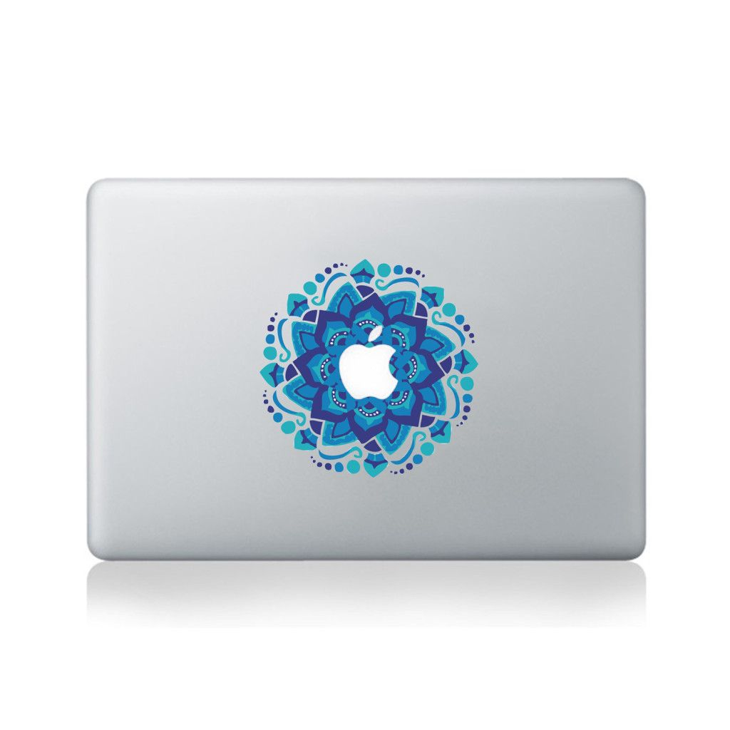 Blue Mandala Vinyl Sticker for Macbook (13/15)  #macbook #sticker #blue #mandala #floral #elegance #vinyl