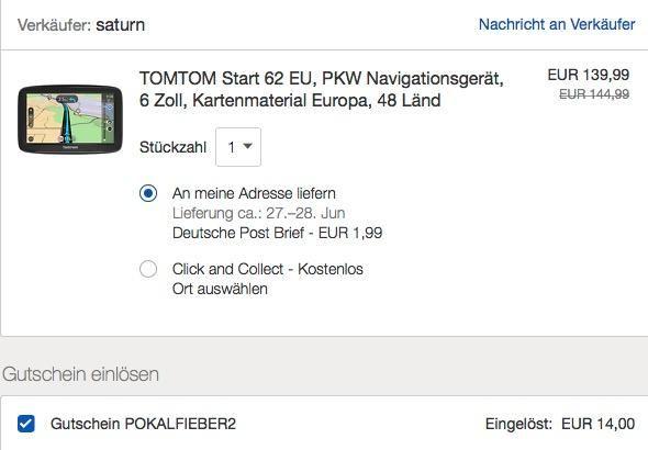 Ebay 10 Rabatt Max 50 Auf Autoteile Zubehor Z B Tomtom Start 62 Eu Pkw Navigationsgerat Ebay Autoteile Rabatt